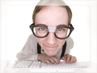 teenage computer nerd