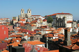 porto cityscape with cathedral poster