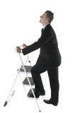 climbing the corperate ladder poster