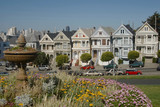 victorian houses in san francisco, california poster