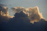 Cumulus clouds in sky. poster