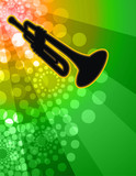 trumpet solo - night club background poster