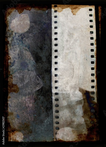 poster of grunge background with film strip