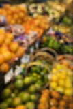 Blurred produce at grocery store. poster