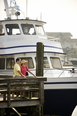 Couple at dock.