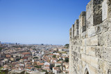 Aerial view of town from castle structure in Lisbon, Portugal. poster