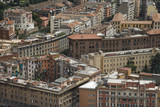 Above view of cityscape in Rome, Italy. poster