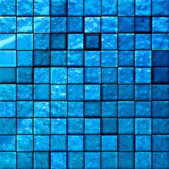 abstract bathroom's tiles blue