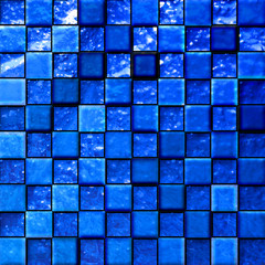 abstract bathroom's tiles blue