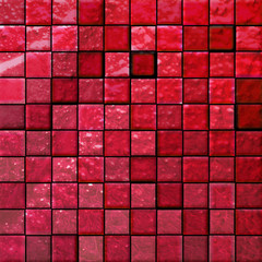 abstract bathroom's tiles red