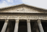 Pantheon facade in Rome, Italy. poster