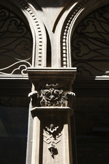 Ornate column in Venice, Italy.
