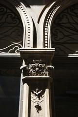 Ornate column in Venice, Italy.
