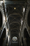 Interior and ceiling of Cathedral of Siena. poster
