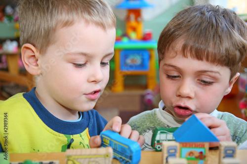 Poster children in kindergarten