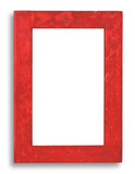 red stained wood frame - xxl size poster