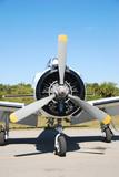 propeller on vintage airplane poster