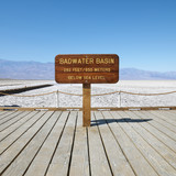 Badwater Basin in Death Valley. poster