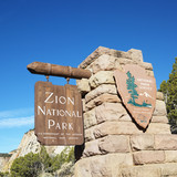 Zion National Park sign. poster