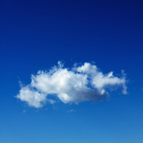 cumulus cloud in blue sky. poster
