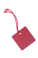 red tag with clipping path
