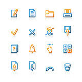 contour notebook icons poster