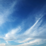 cirrus clouds in blue sky.