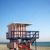 Lifeguard tower in Miami, Florida, USA. poster