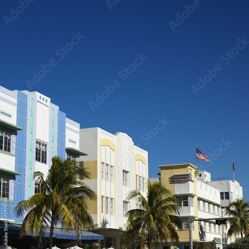 Art deco district of Miami, Florida, USA.
