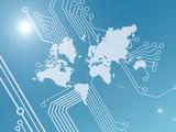 hi tech world wallpaper poster