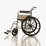 side view of empty wheelchair. poster