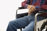 elderly man in wheelchair. poster