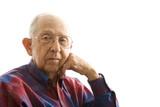 portrait of elderly man. poster