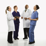 portrait of medical healthcare workers. poster