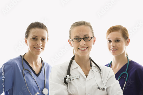 caucasian women medical healthcare workers.