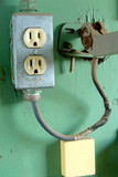 electric outlet box poster