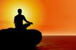 yoga - beach meditation