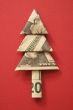 origami tree made from a twenty dollar bill. poster