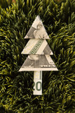 origami tree made from a twenty dollar. poster
