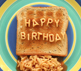 happy birthday toast poster