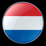 netherlands flag button poster