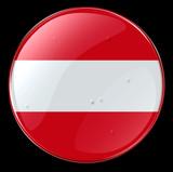 austria flag button poster