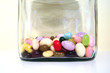 jelly beans in a glass jar / candy