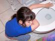 child sick with stomach virus