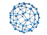 blue molecule poster