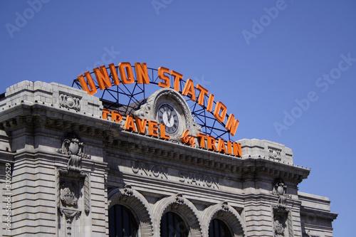 canvas print picture union station in denver, colorado