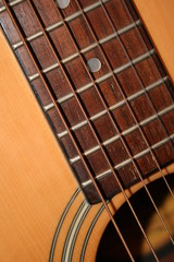 acoustic guitar closeup