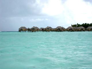 maison sur pilotis en polynesie
