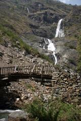 nepal waterfall