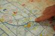 Leinwanddruck Bild - carte et plan de vol